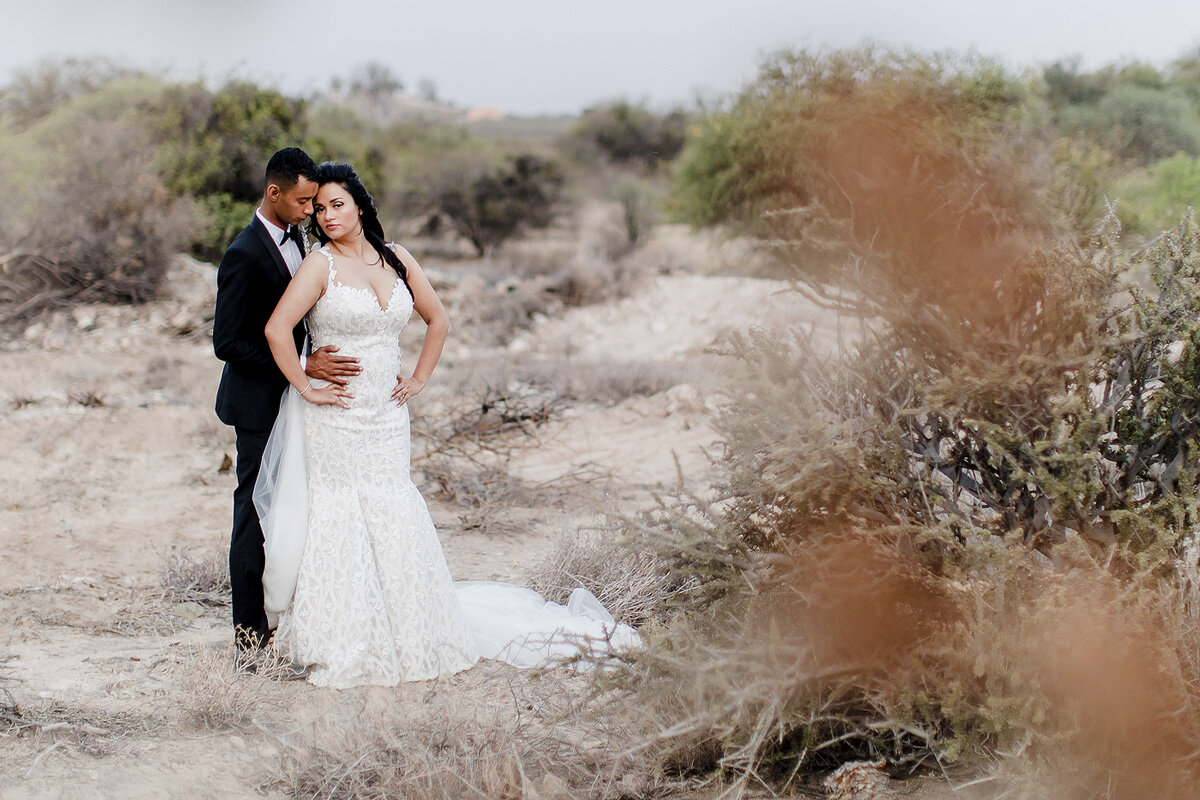 Elegant Wedding Couple Photo in the Northern Cape of South Africa