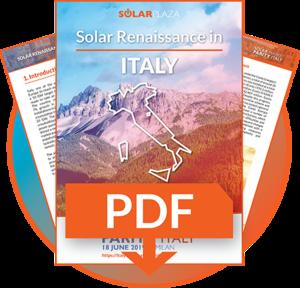 White Paper - Solar Renaissance in Italy — Solar Market Parity Italy