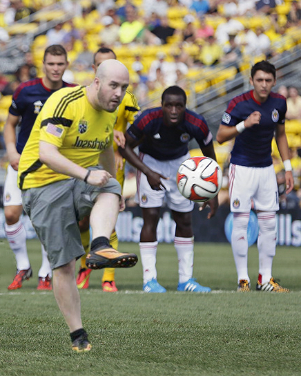 John taking a penalty kick against Chivas USA.