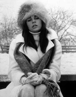 Fur hat and long coat love story