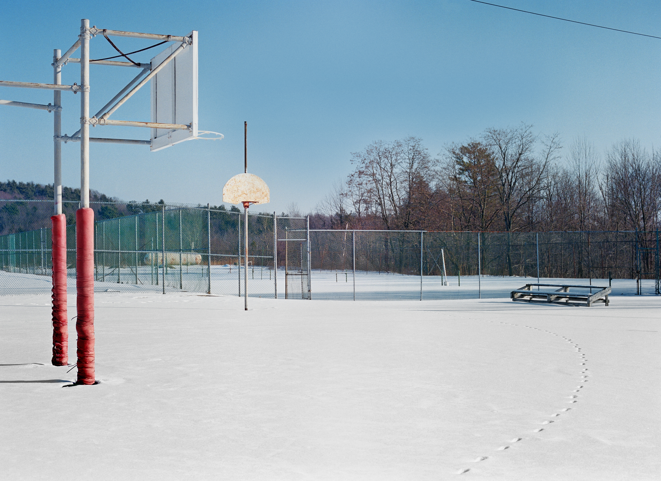 Basketball Court, Kutsher's Country Club and Hotel, Monticello, NY, Bungalow Colony, Monticello, NY, Chromogenic Print