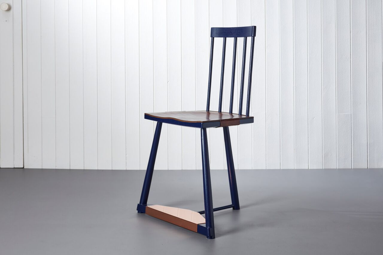 The Pilgrim Chair series inspired by Chaucer's characters in the Canterbury Tales. The one shown is called 'Madam Eglantine'
