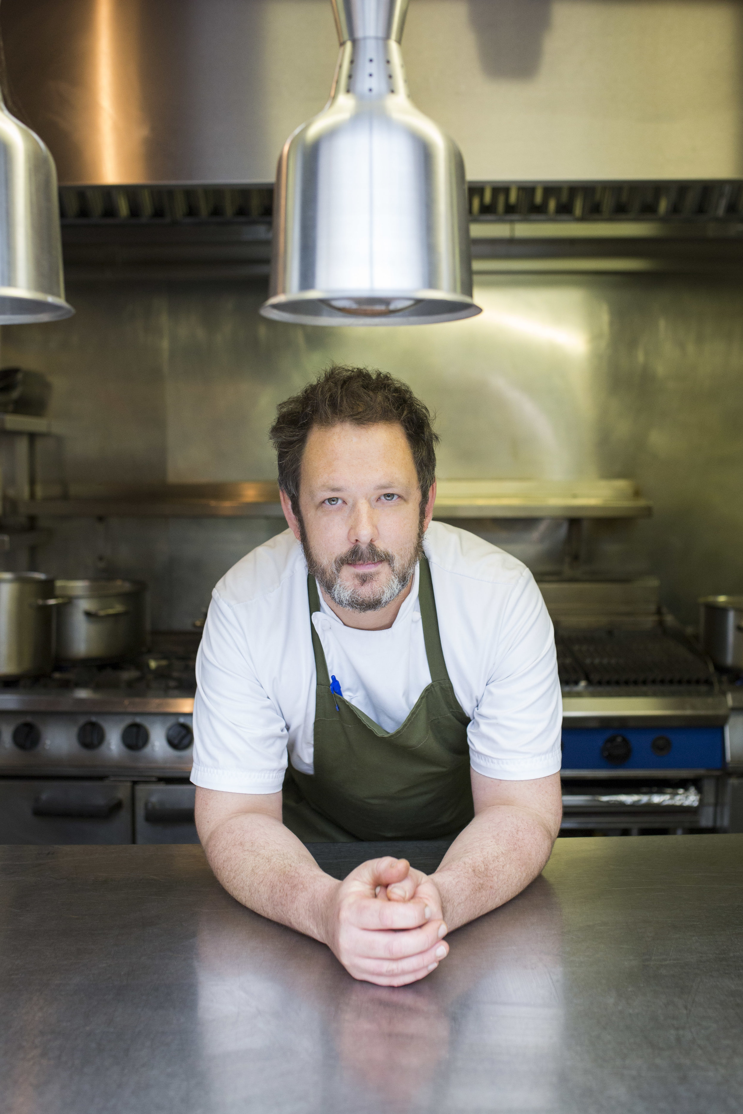 Damian Clisby in the Petersham Nurseries kitchen.