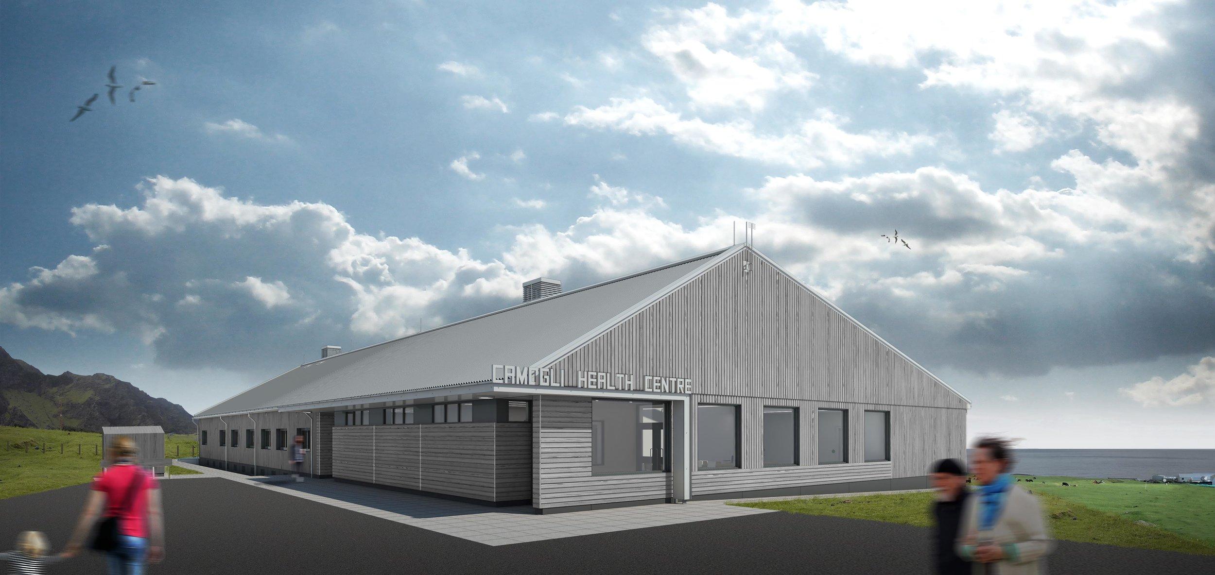 Photo credit:Tristan da Cunha Health Facility by Hugh Broughton Architects