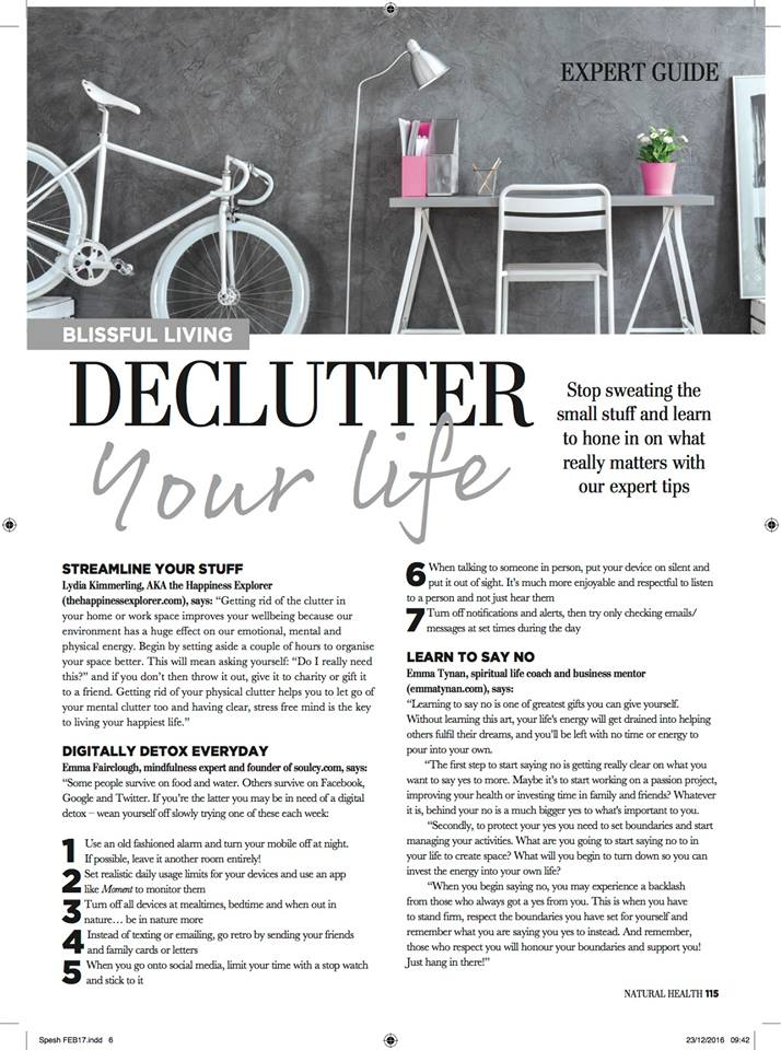 natural health magazine - declutter your life article.jpg