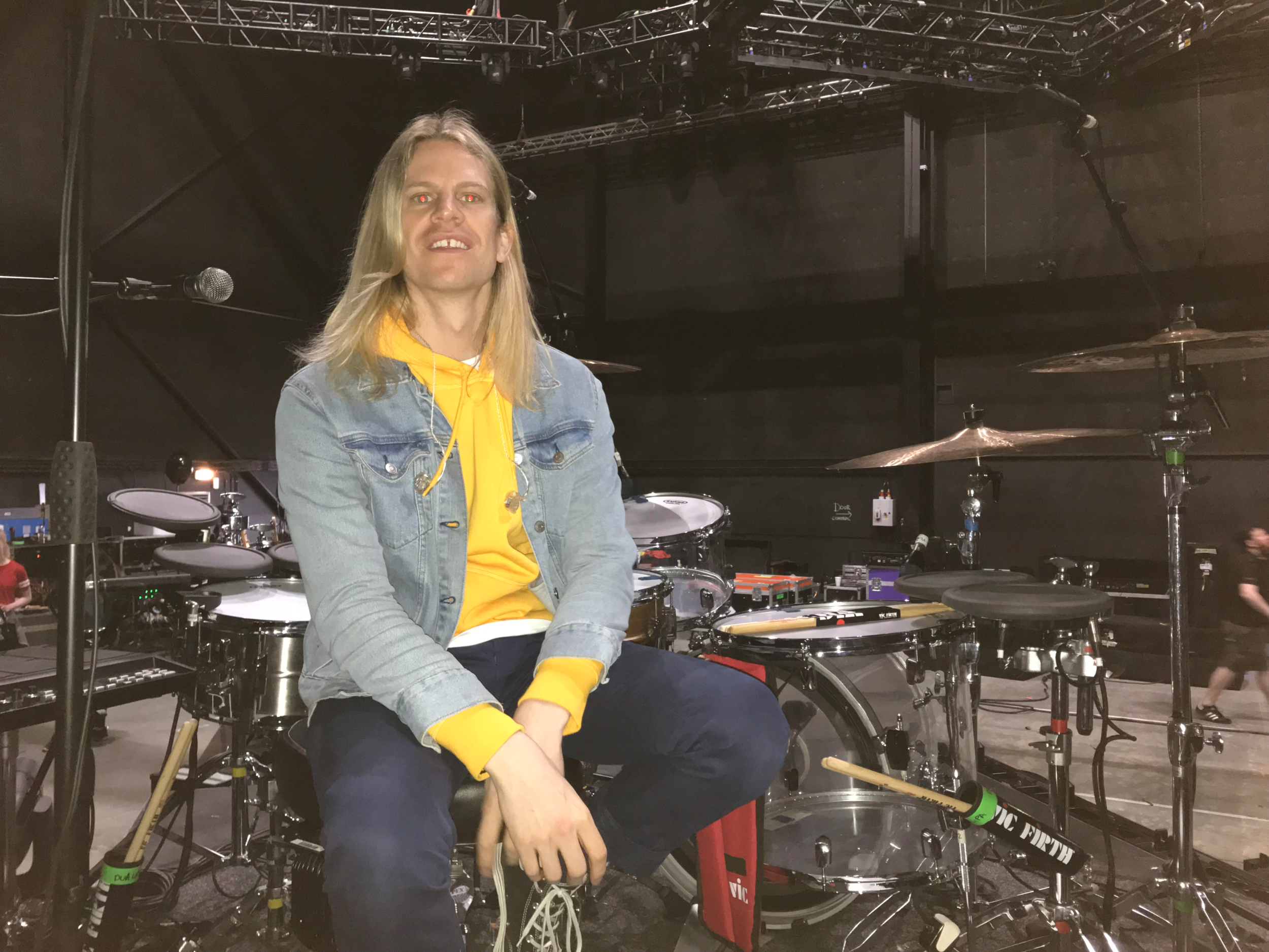 Dua Lipa Production Rehearsals - Another bit of exciting news.... I went on a day out with Martin Potts (Artist Relations Paiste UK), over to Millennium Studios where Dua Lipa's production rehearsals were taking place. Will Bowerman, Dua's drummer and MD, was prepping for the UK leg of the tour and Paiste had supplied him with a new set of cymbals. We were invited along to basically ensure that Will had everything sorted, as well as capturing some promo content for Paiste UK. We recorded a kit walkthrough with Will, shot a load of pictures and videos and then stuck around to hear the band rehearse.It was a real privilege to be asked to join Martin for the day and meet Dua Lipa's team!Will was also kind enough to invite us along to the Birmingham show, which was absolutely killer!