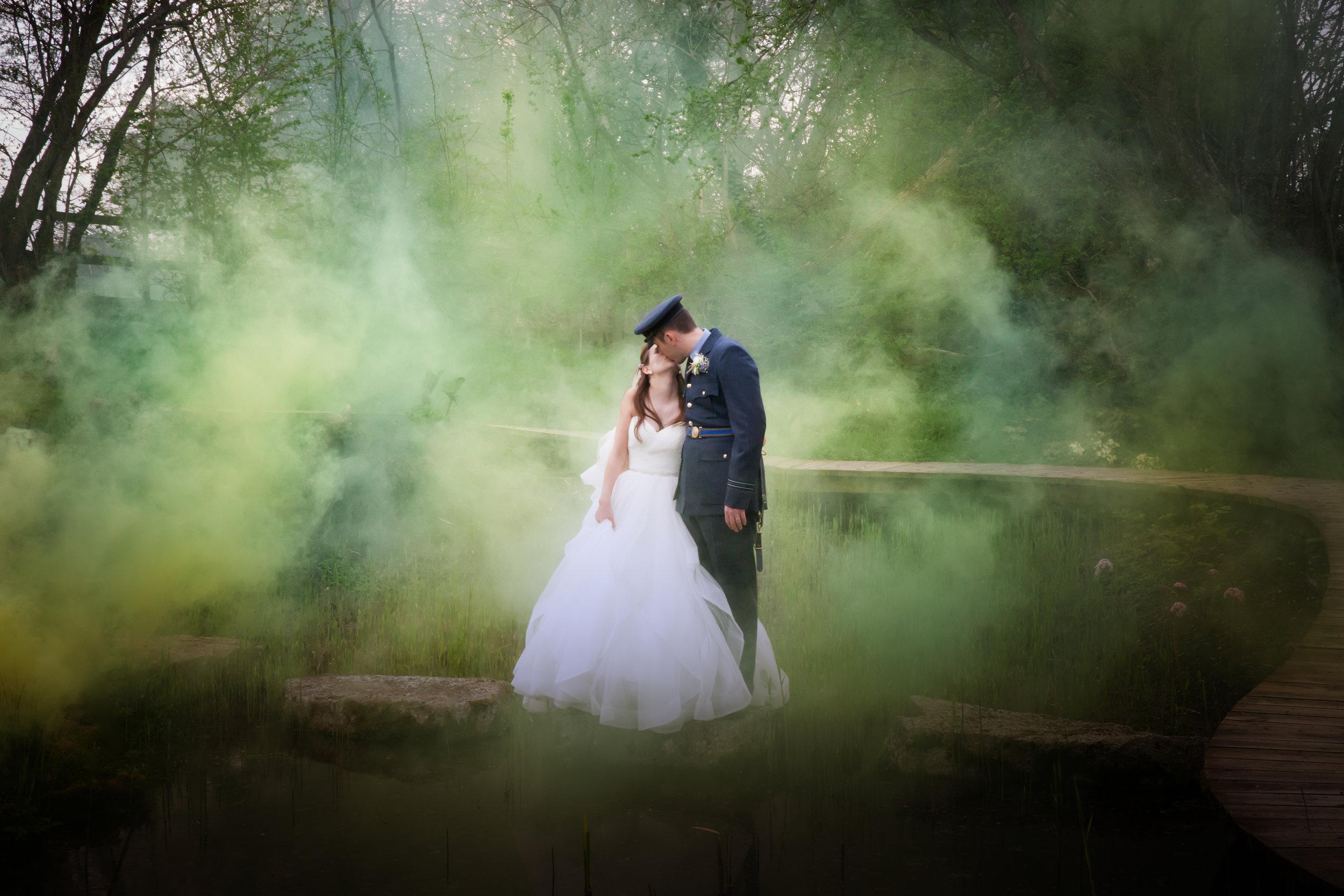 Trash or Treaure your dress shoot, Wayne Hudson Photography, Lucria Creative, Cornwall and Devon wedding photographer based in Launceston, Smoke, Water
