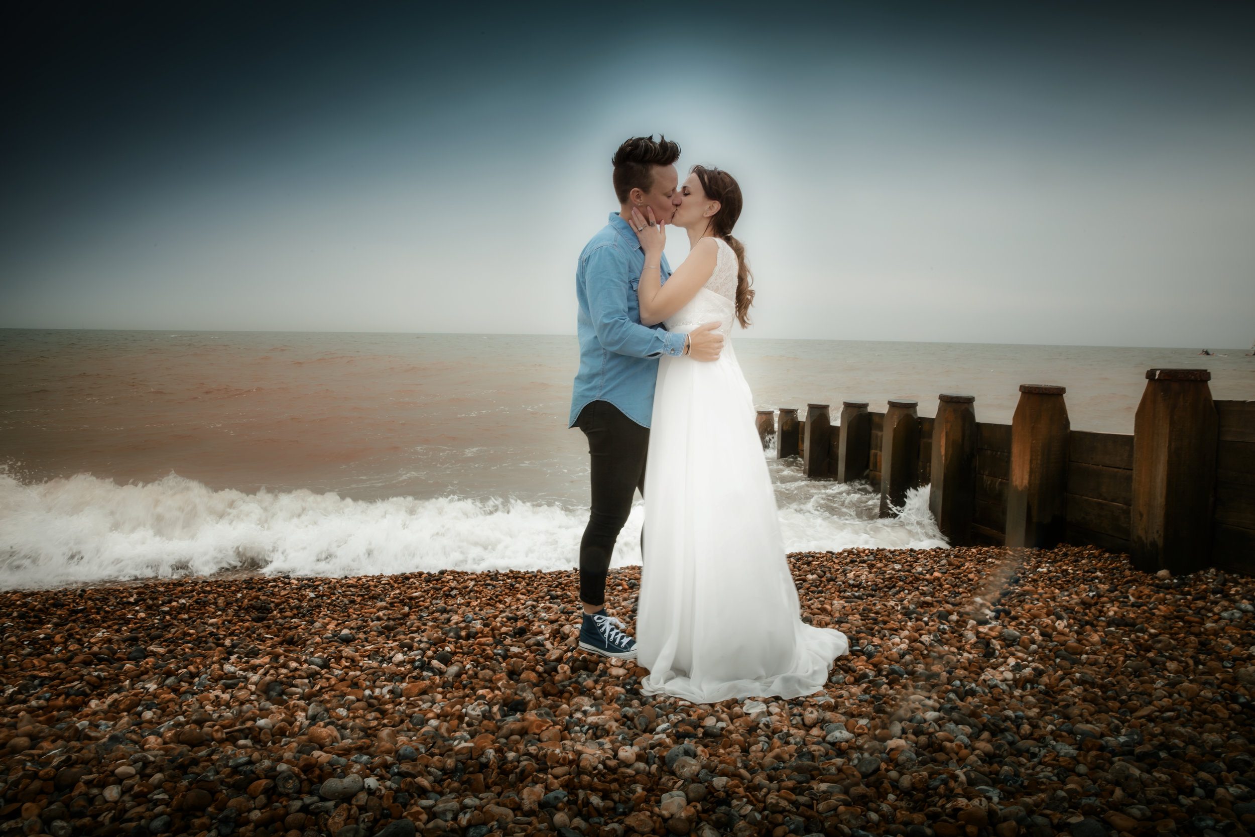 treasure and trash the dress, Wayne Hudson Photography, Lucria Creative, Cornwall and Devon wedding photographer based in Launceston, Beach