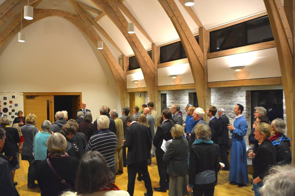 Matthew Owens addresses the gathering of composers and Cathedral Commissioners