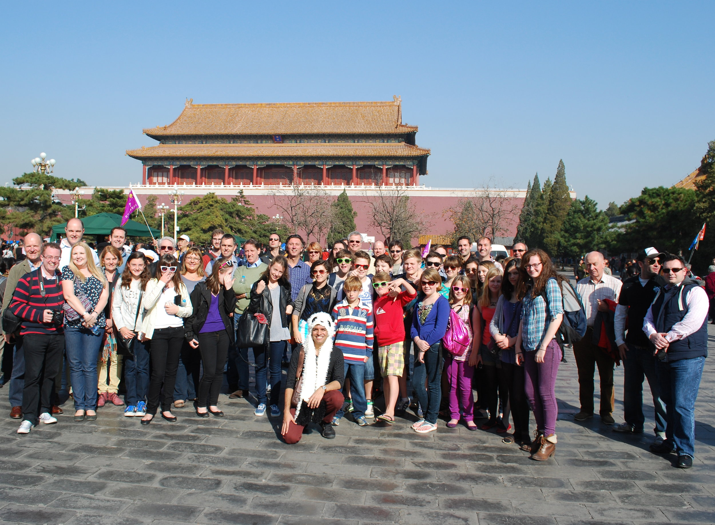 On tour - visiting the Forbidden City in Beijing