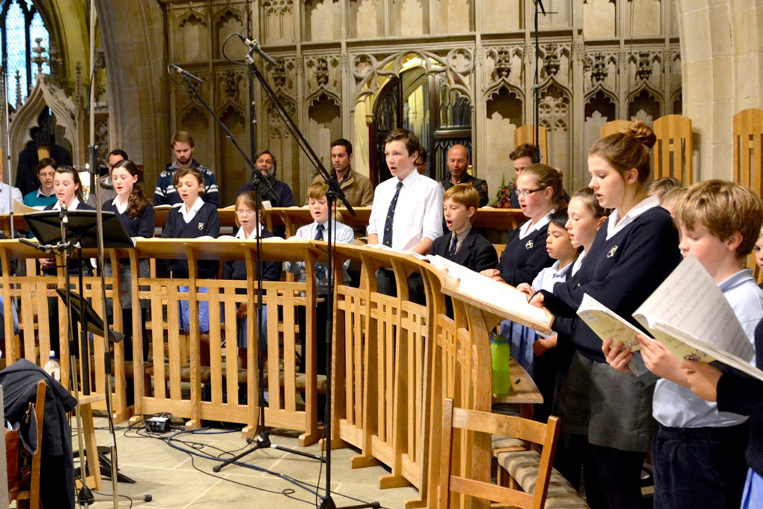 The choristers recording another CD