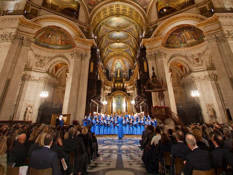 A concert given in St Paul's Cathedral, London