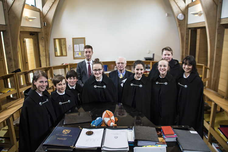 The choristers who took the various solo roles, pictured with Jeremy Cole and Philip Wilby