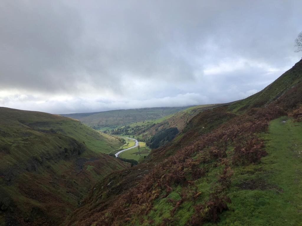 View back down the valley from Crackpot Hall