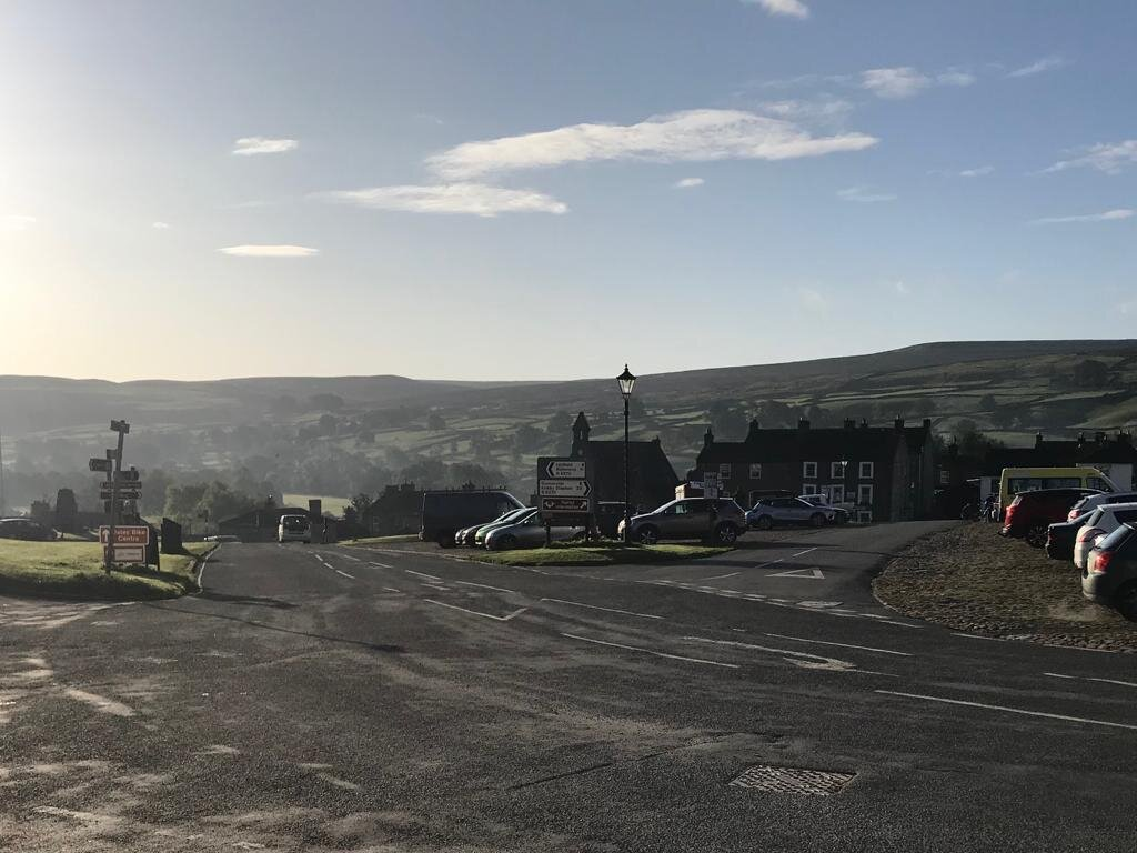 Morning sun in Reeth