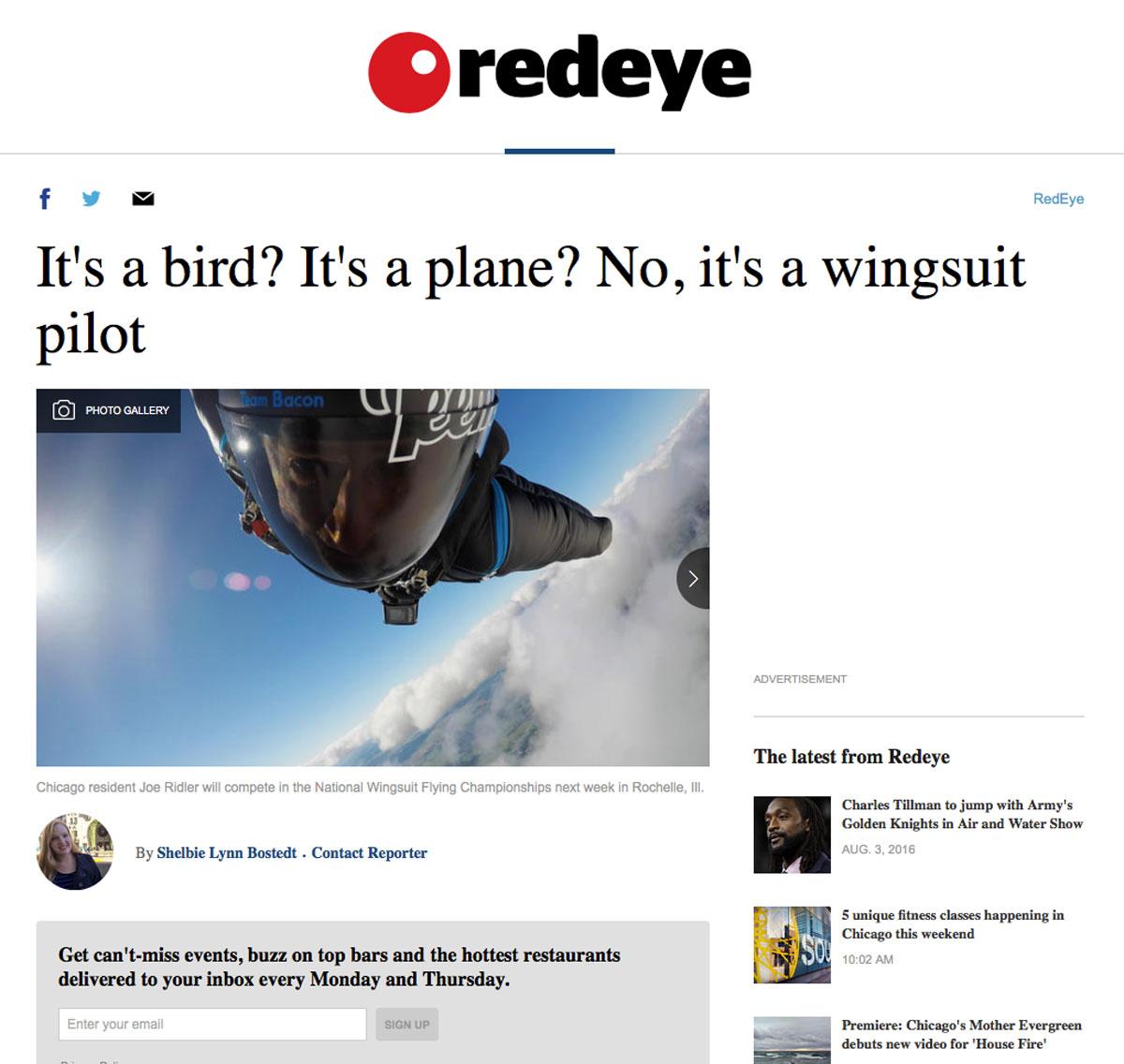 Redeye Chicago Article 2016 - Joe Ridler