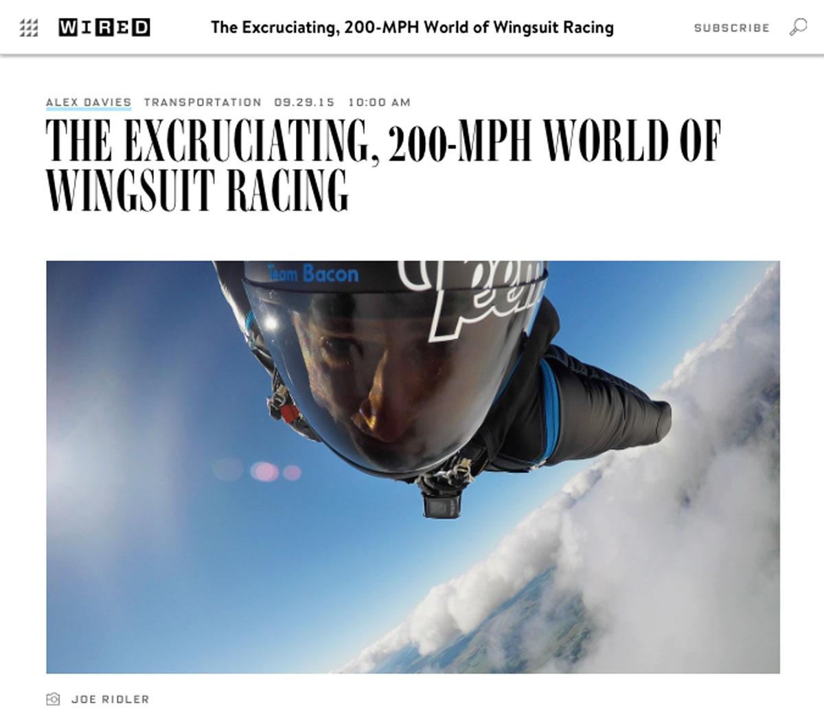 Wired Magazine Article - Joe Ridler - 2015