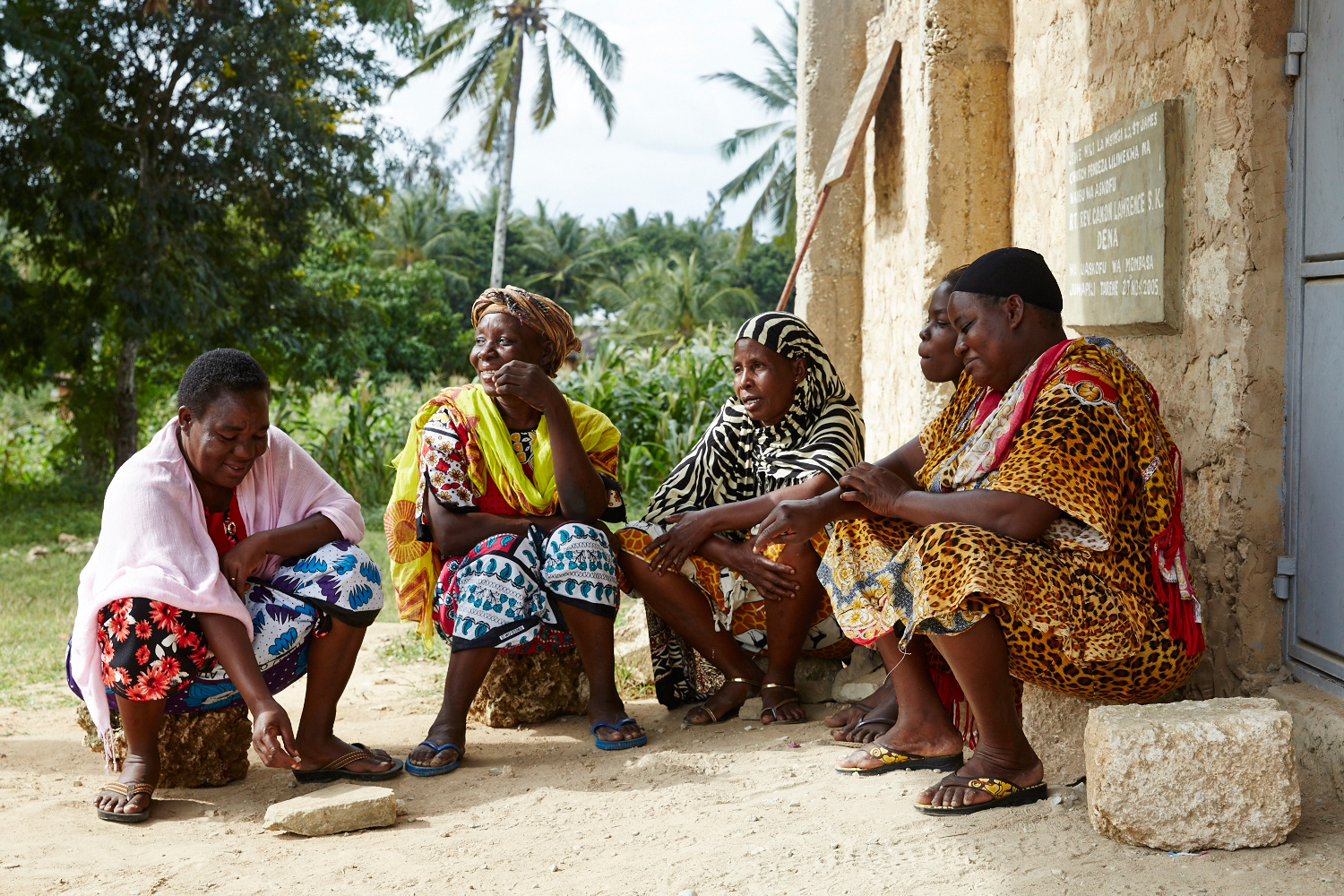 Members of the Sauti ya Wanawake (The Voice of Women) meet to discuss gender-based violence issues, and cases they are supporting. Mwakirunge, Mombasa, June 2016
