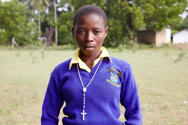 Margaret Shaaban, 14 is the President of Children's Welfare. Mwakirunge, Mombasa. June 2016.