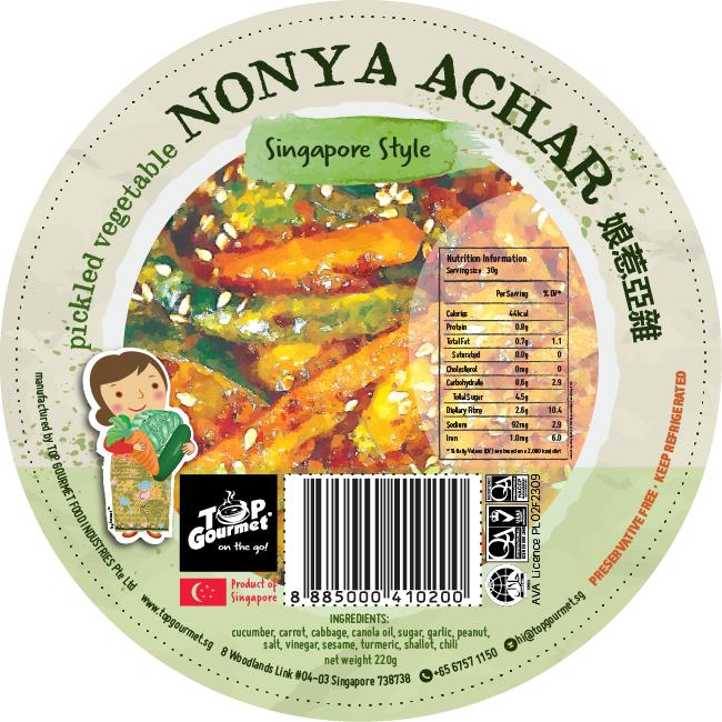Top Gourmet Nonya Achar 220g
