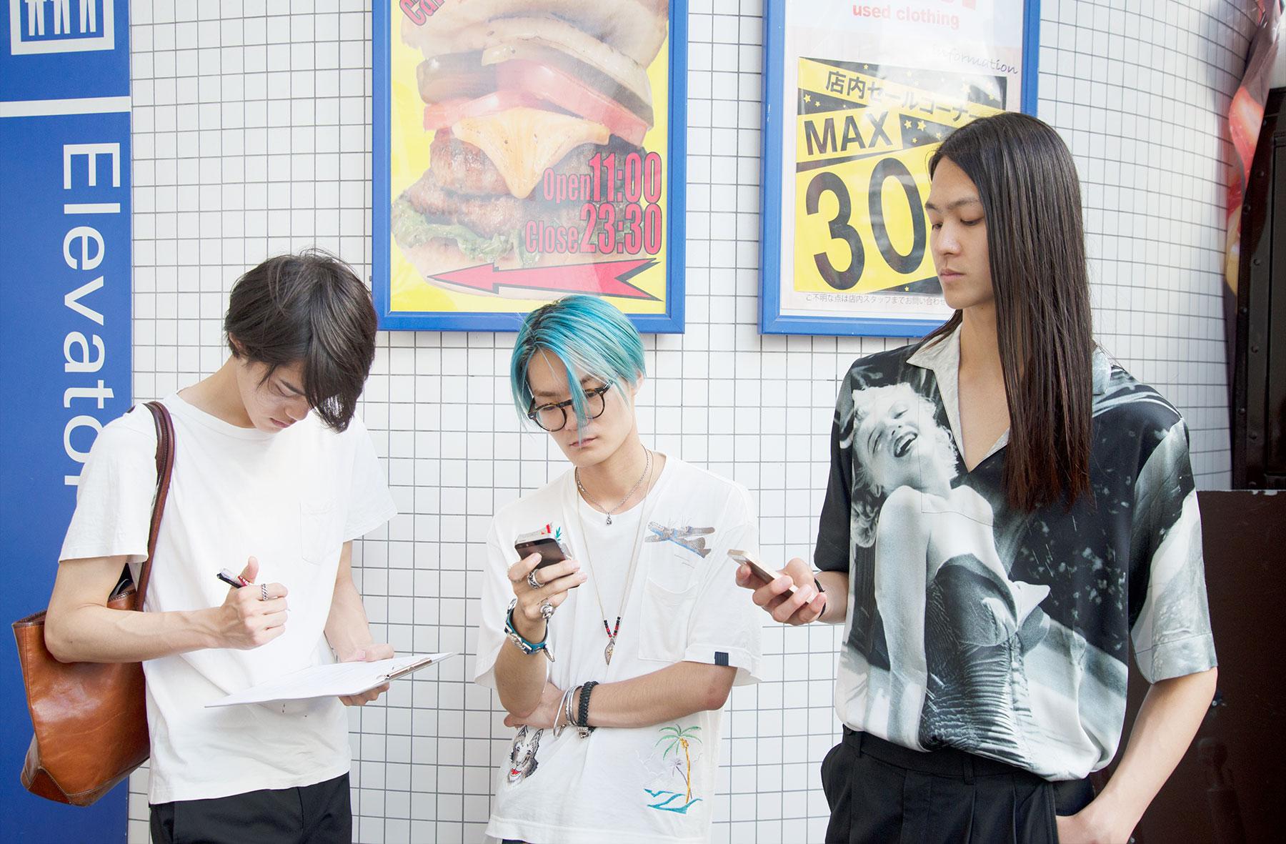 Left to right: Shuya, Akito and Hayato