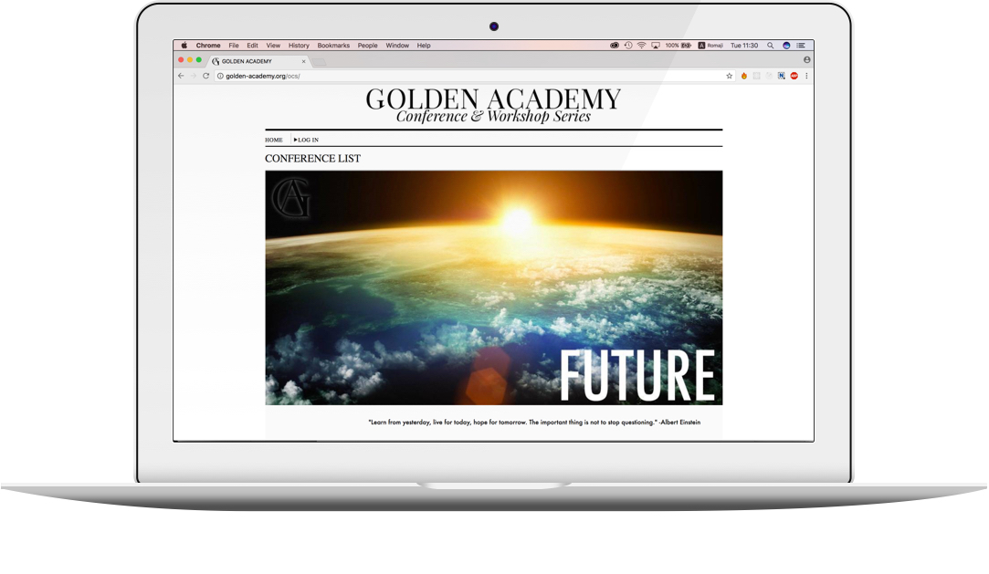 Designed and implemented a virtual conference management system from the visual design stage to the final hand-off stage - Visit the website: www.golden-academy.org
