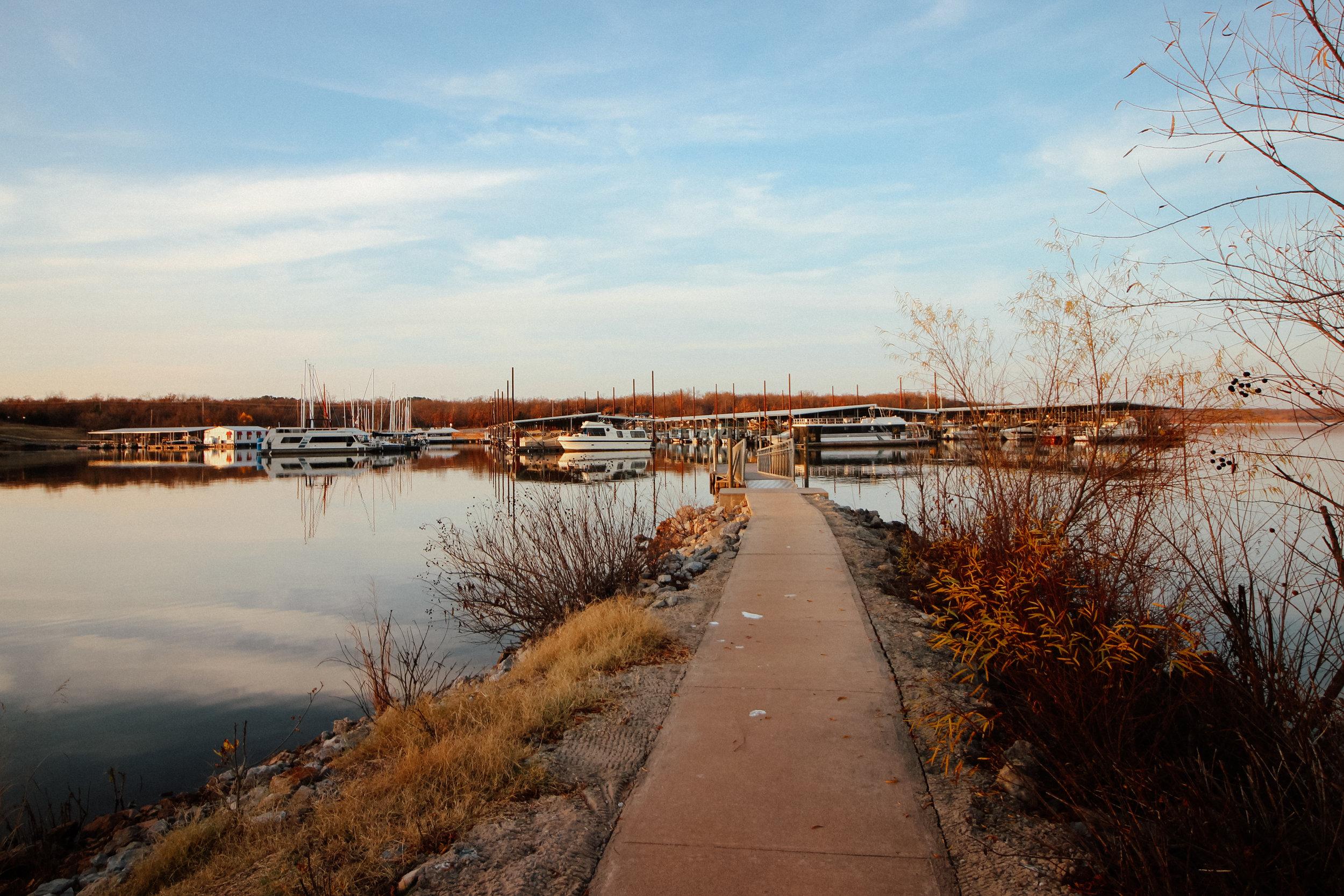 The marina at Lake Thunderbird State Park.