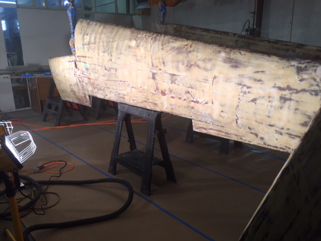 Starboard Wing Prepping for #1 Prime.JPG