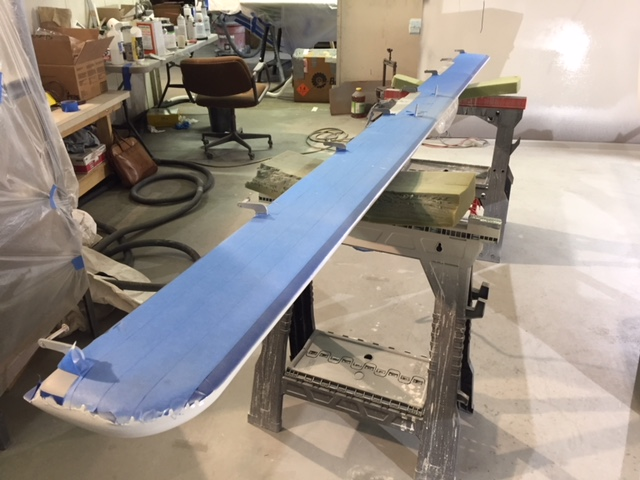 Canard Bottom Taped for Top White Paint.JPG