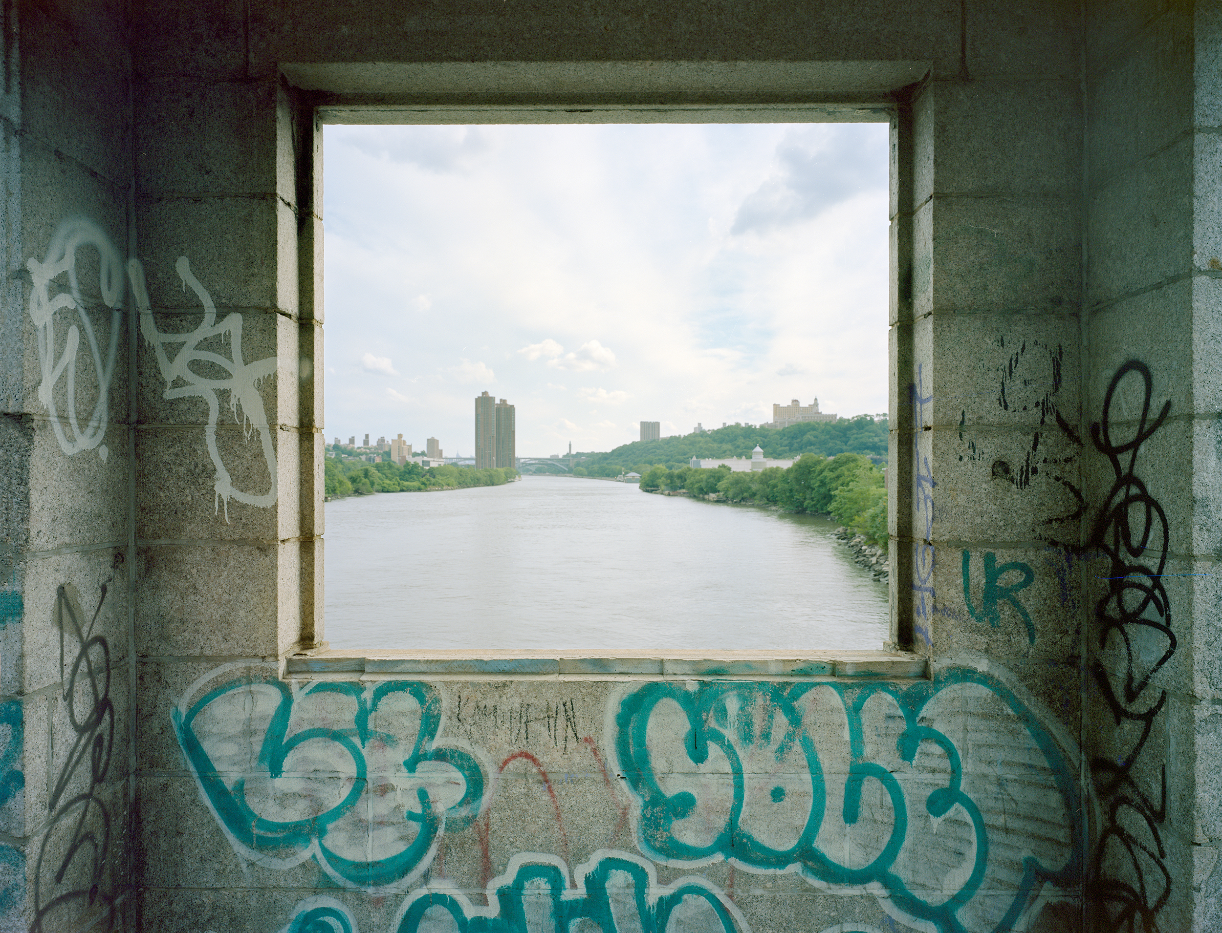 A view south, University Heights Bridge, New York, 2017