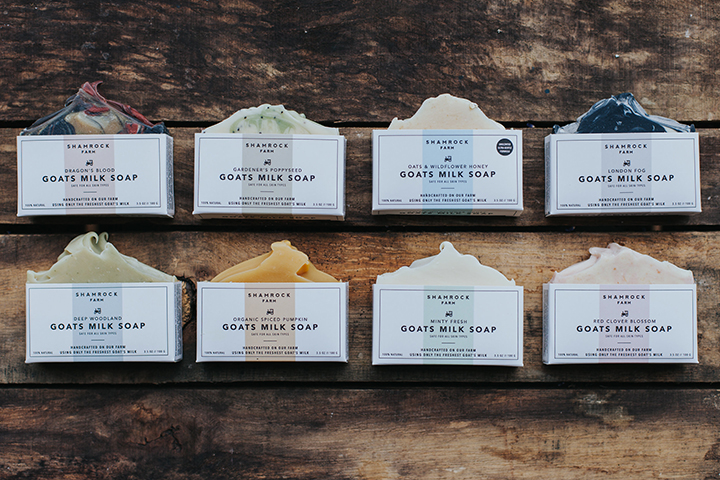 8 of 15 new soap packaging designs.