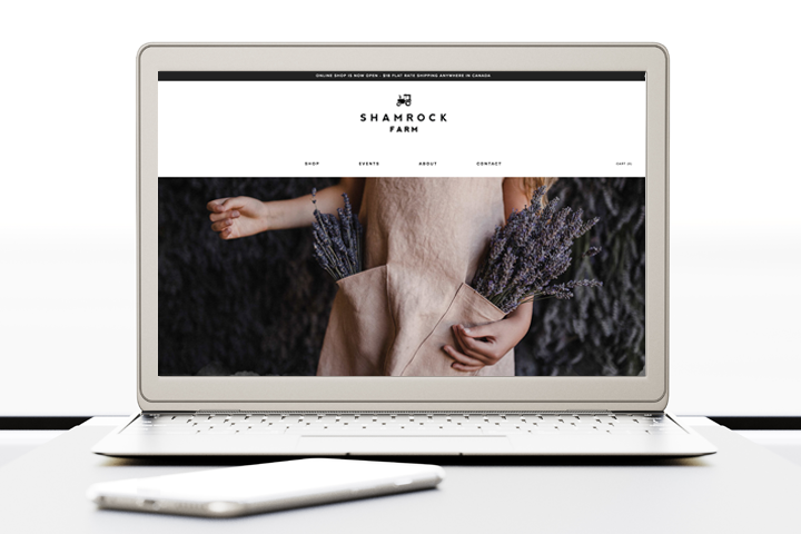 New Ecommerce website on Squarespace platform.
