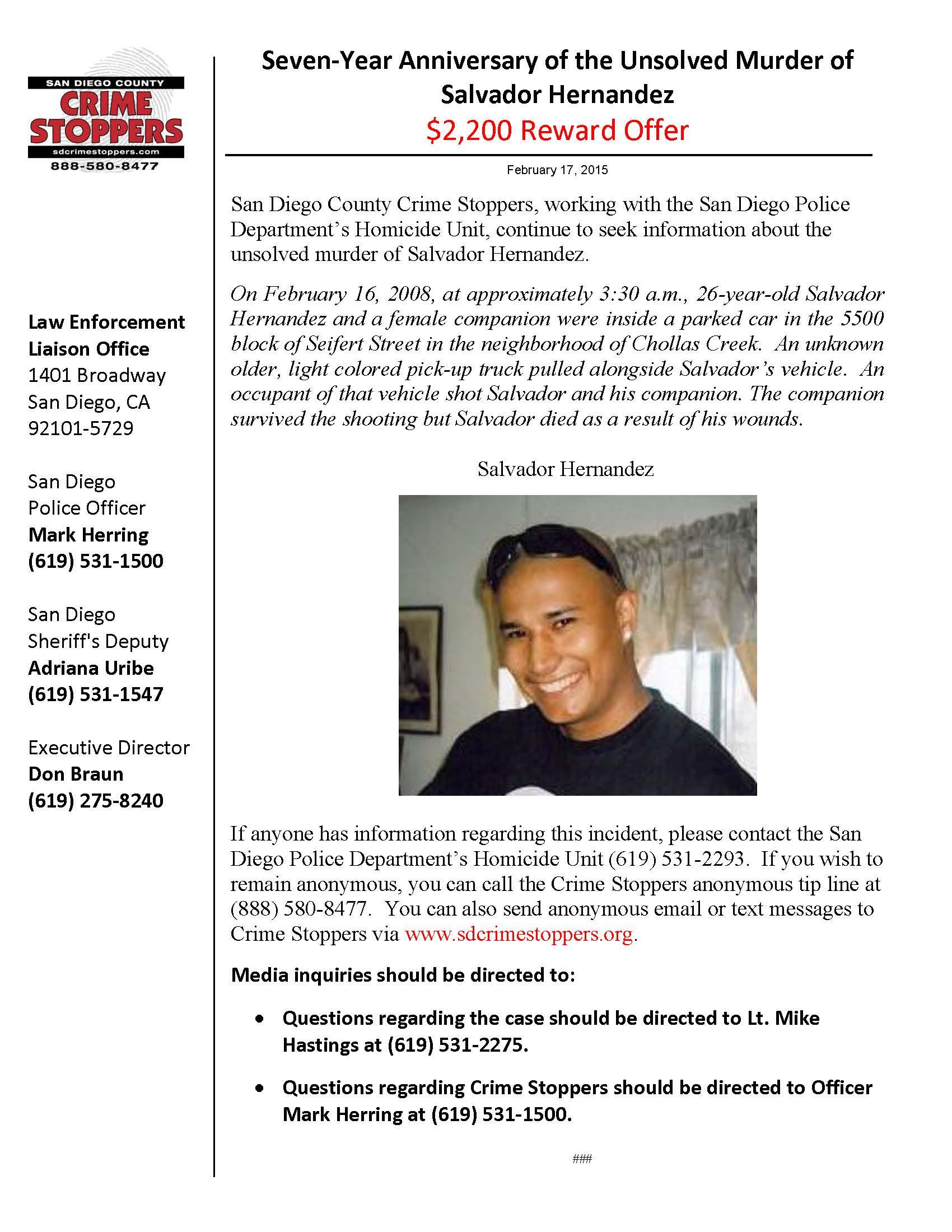 021715 Salvador Hernandez Homicide