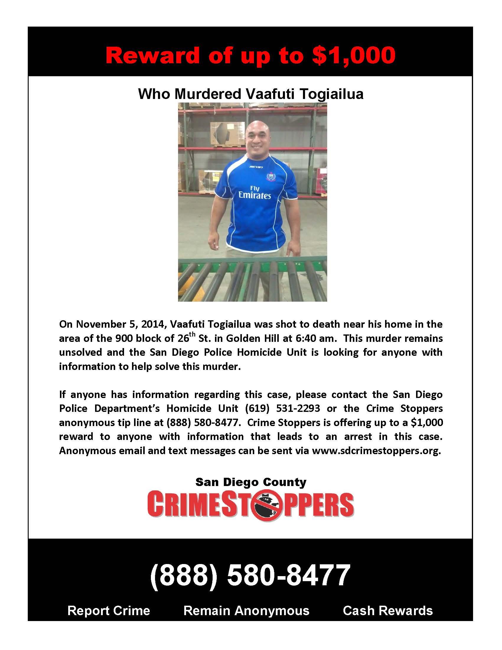 021815 Who Murdered Vaafuti Togiailua Poster