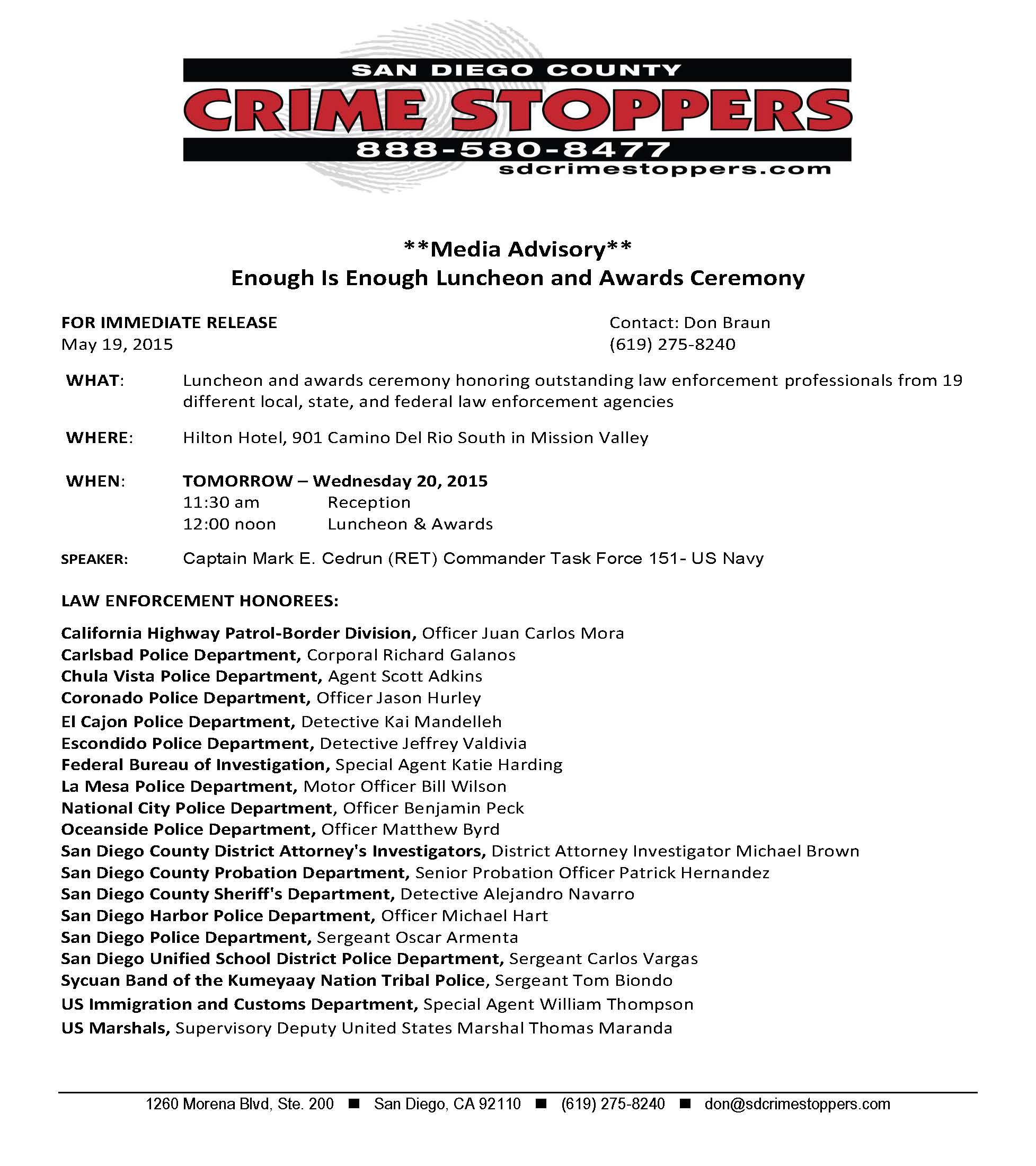 media advisory 2 2015