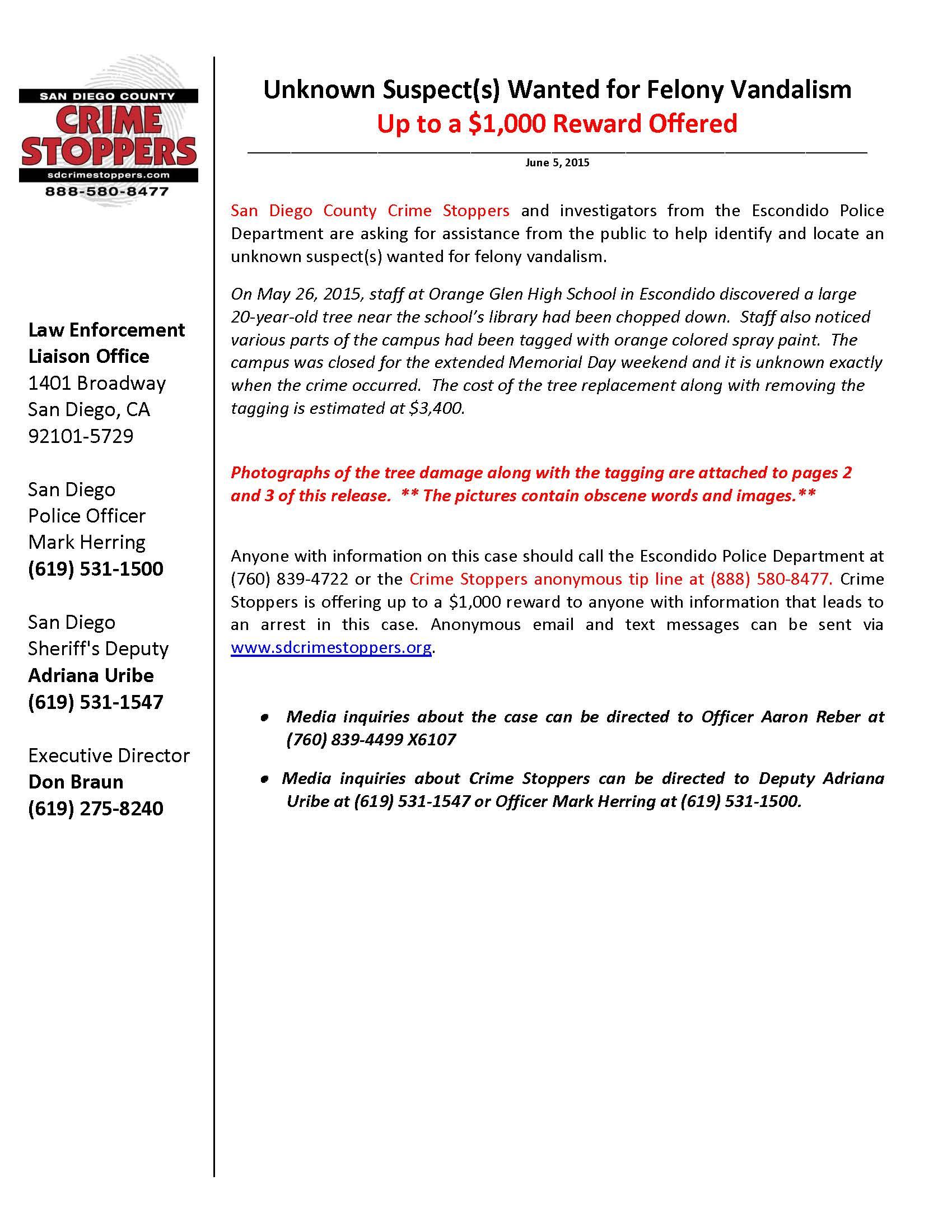 060515 Orange Glen High School Vandalism Case_Page_1