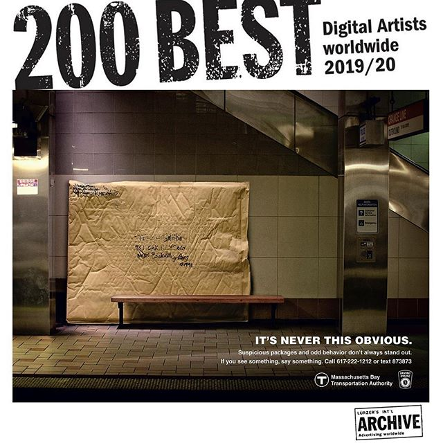 Honored to be honored by @luerzersarchive as one of the 200 best digital artists worldwide. . . . . . #postproduction #honored #archive #digitalart #photomanipulation #adobe #photoshop #psa #adcampaign #advertisement #mbta #digitalartist #retouch #photoretouching #postproductionstudio #magazine #subway #publictransportation #photography #creative #composition