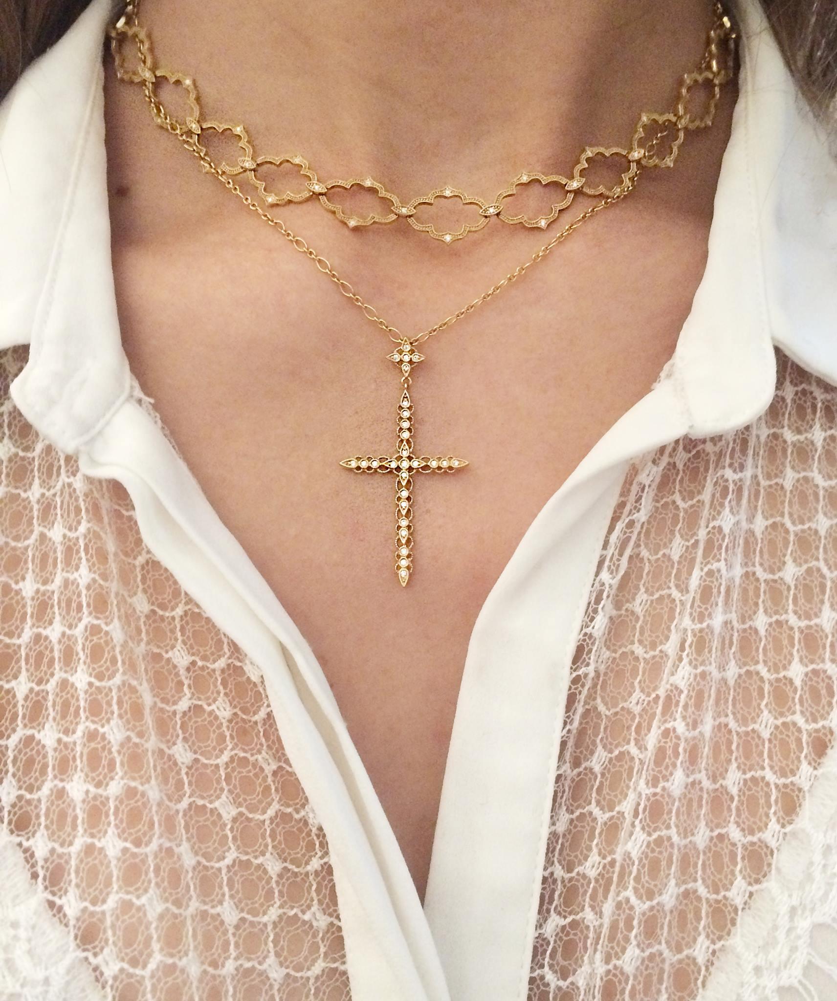 MOON RIVER necklace (top) CÉLESTE necklace (bottom)
