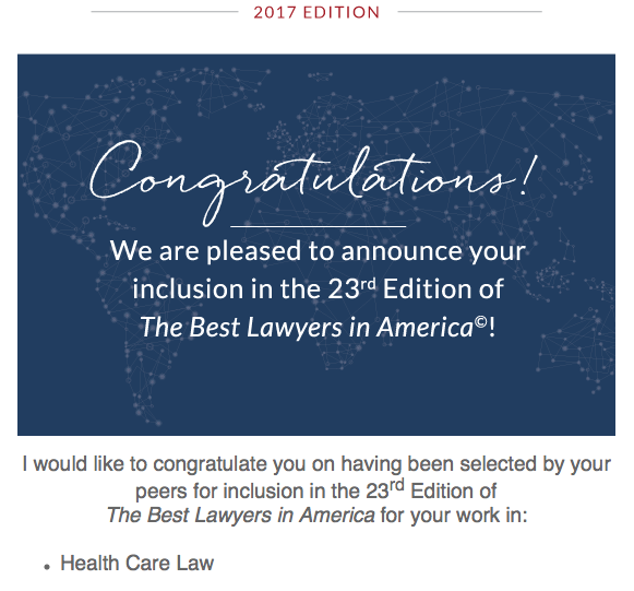 Jeffrey P. Greenberg best lawyer in america for healthcare law