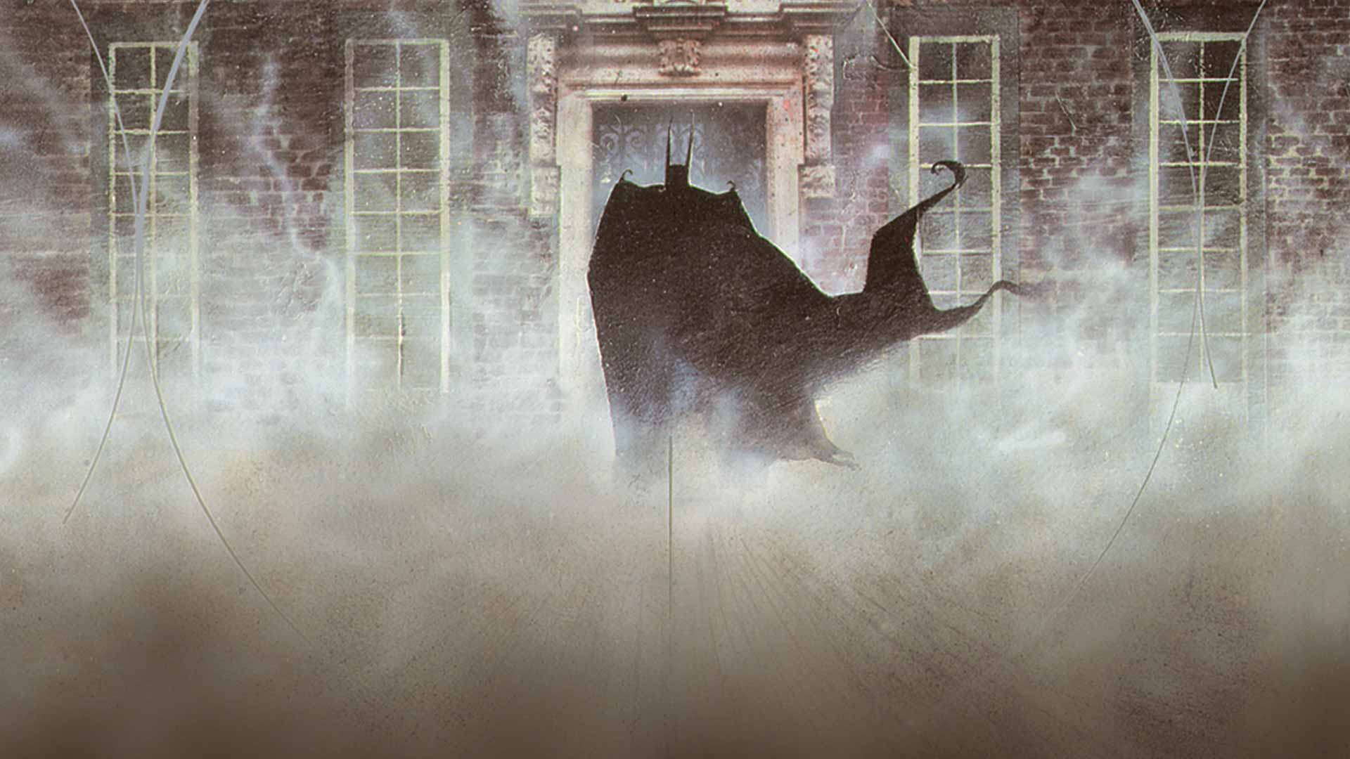 Grant Morrison and Dave McKean's  Arkham Asylum: A Serious House on a Serious Earth  definitely inspired the creepiness and foreboding you get from both the facility and Batman's enemies. ( Art by Dave McKean )