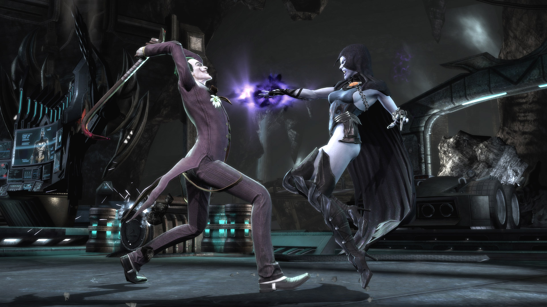 The fundamental attraction of  Injustice  is facing off a plethora of DC Comics characters against each other that you don't often see in the comics, like this battle between the Joker and Raven.