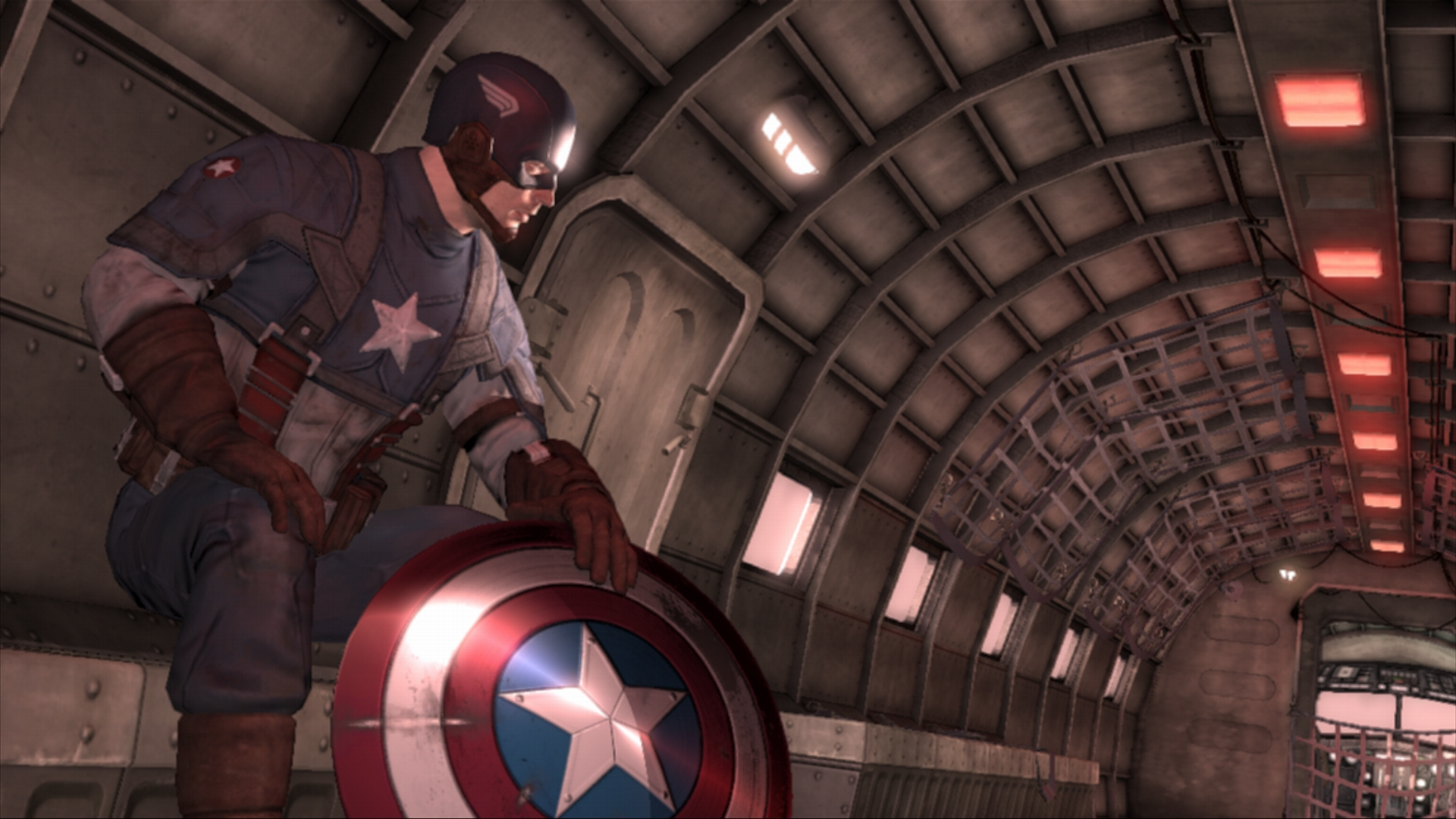 In  Captain America: Super Soldier , you step into Cap's boots during the events of World War II as depicted in  The First Avenger  film, and the story serves as an adventure Cap and his team could've gone on during their days together fighting in the war.