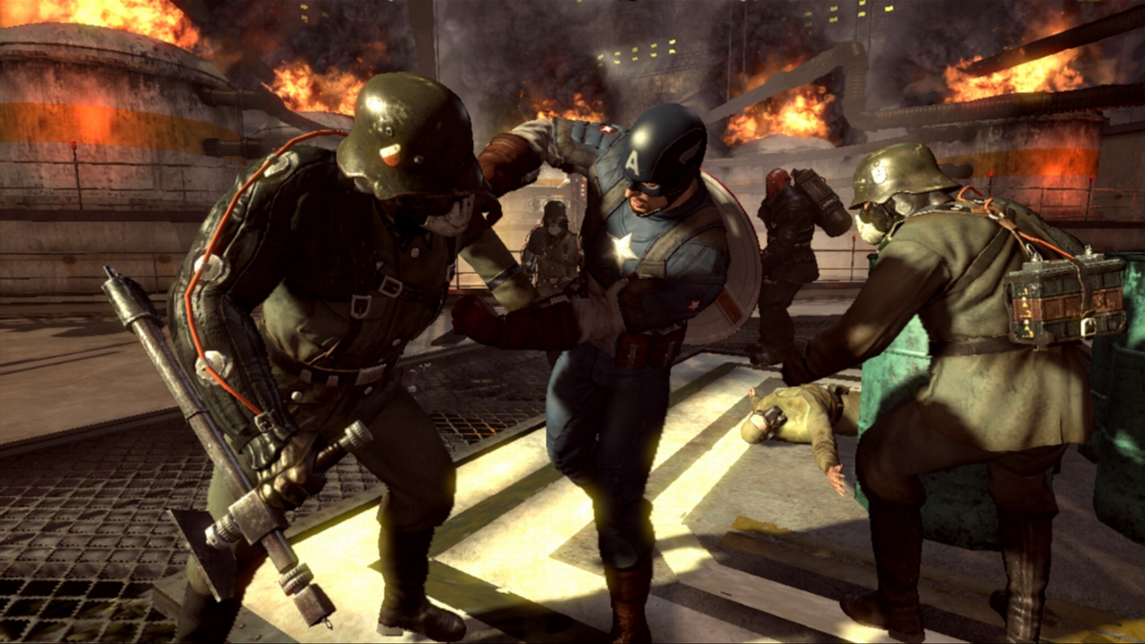 With a combat system evocative of  Batman: Arkham Asylum ,  Super Soldier  incorporates the strength, skill and speed of the title character to make for a pure Cap experience.