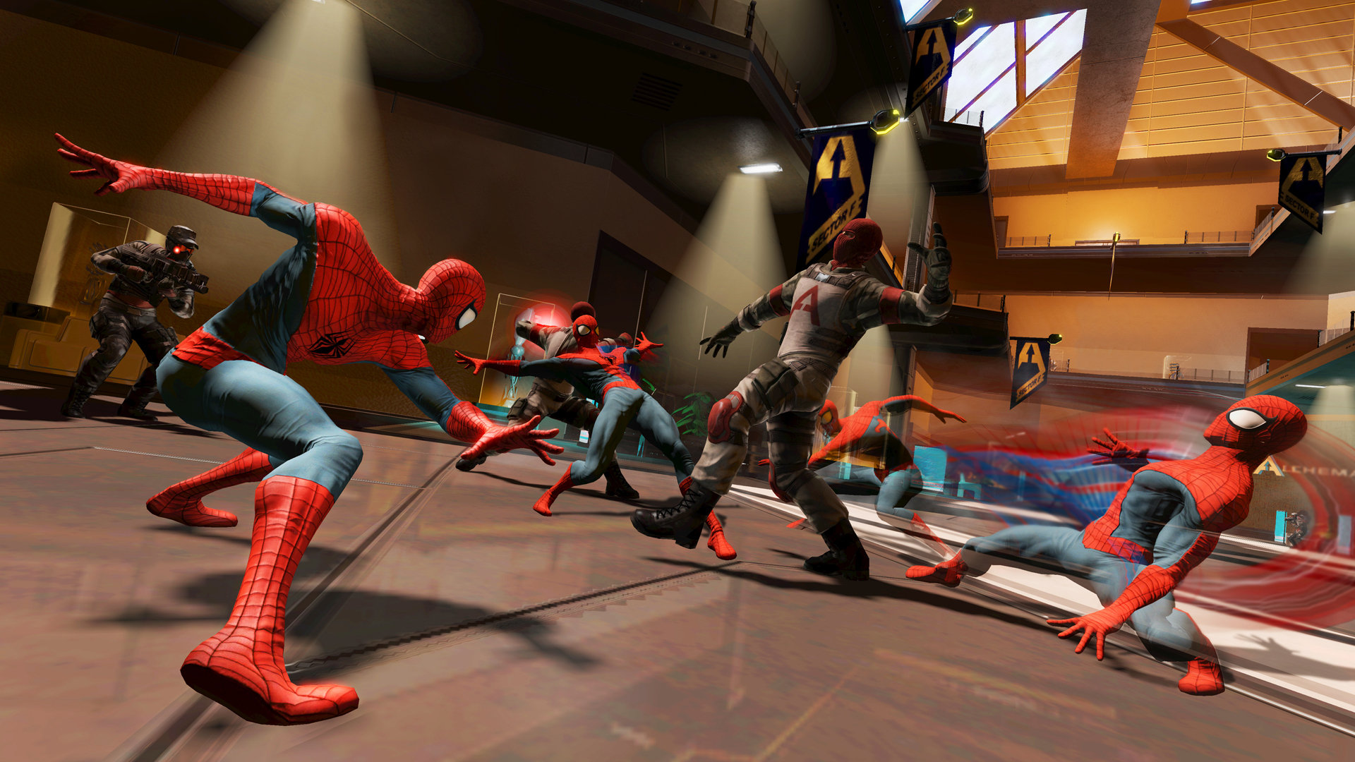 The Amazing Spider-Man calls upon his unmatched acrobatic skill to take the fight to his enemies.