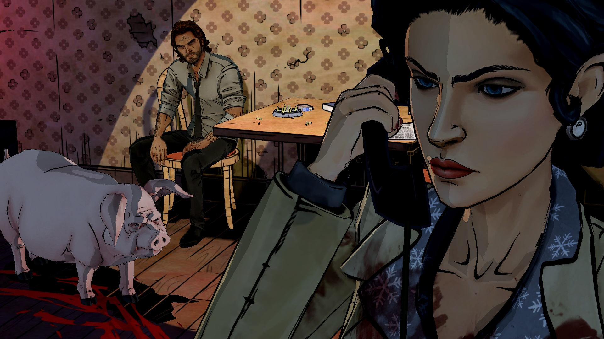 Snow White and Bigby Wolf are the two main characters of the story, and though they sound incongruous considering the stories they come from, they're a very well-executed team for this adventure.