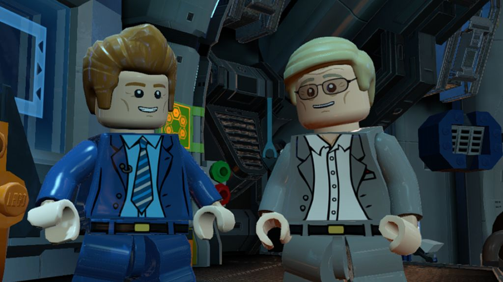 You might be surprised by the celebrity involvement in this game, including the pictured Conan O'Brien and Adam West. There's more surprise characters to unlock, too. *COUGH!* Bat-Cow! *COUGH!*