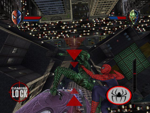 Although it owes a lot, mechanically speaking, to the 2000 game, the game based on director Sam Raimi's first  Spider-Man  film amped up the scale of things significantly. It also expanded on much of what people saw in the movie in the summer of 2002, making for a solid movie-to-game transition that still ranks among the best.