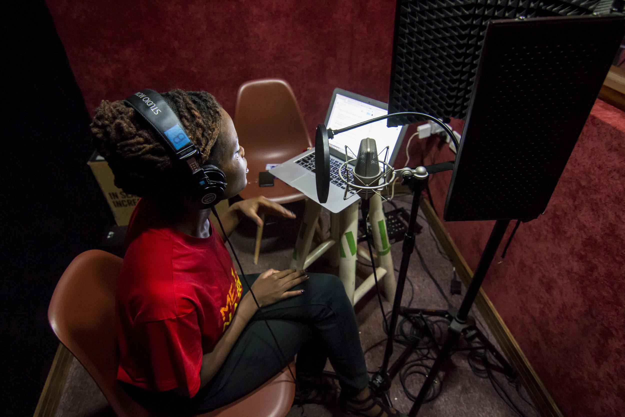 At Mojo Productions in Nairobi, Kenya