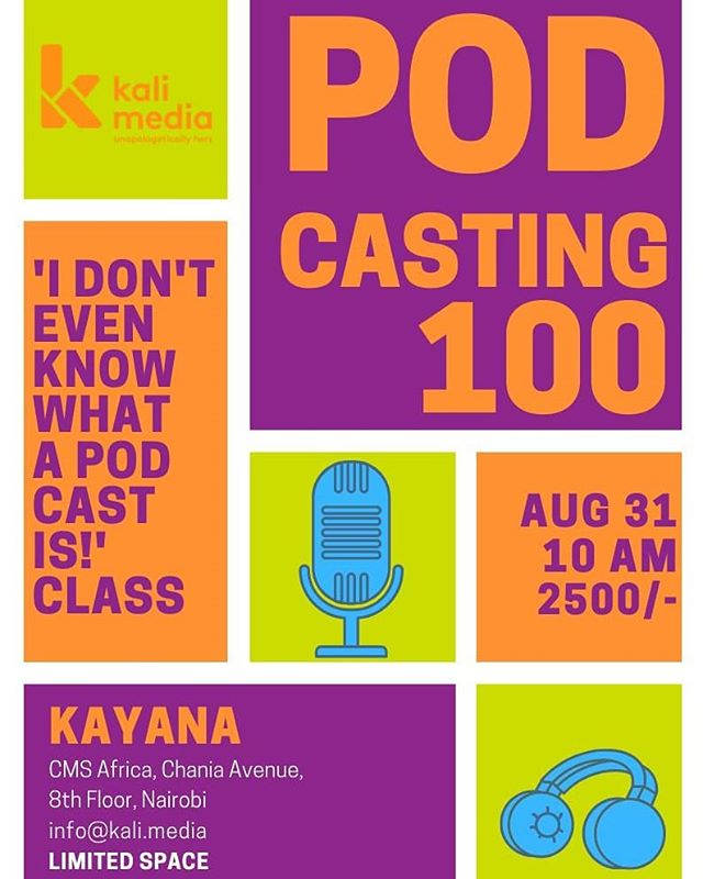 We are back with another podcasting basics class.  This class is for those who want a solid podcasting foundation before they start their own podcasts...or those who are just curious!  The class is on Sat, Aug. 31 @ 10am @kayana_kenya and taught by our very own @kalibawse  For more information, check out the link in bio