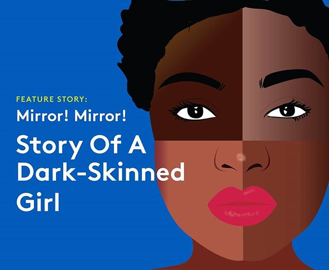 """Kale, you have a pretty face...if only you were light-skinned!"" In the new issue of #KaliLetter, #Uganda writer @hil__daa writes about the pressures of #colourism and how she has had to learn to love the person that looks back at her in the mirror.  She speaks for the many women who see themselves one way, but society tells them a different story of how they should see themselves.  Do you have a colourism story?  New issue in the linkinbio  Illustration: the mighty @mbithe.mutavi"